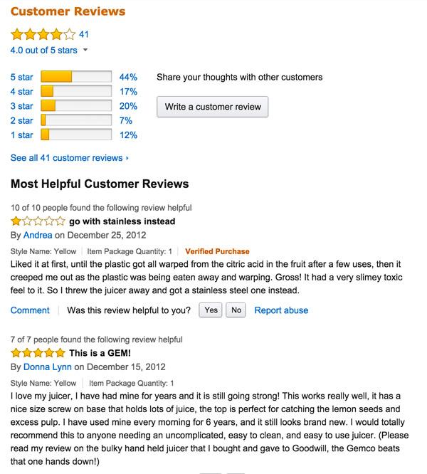hand held citrus juicer reviews
