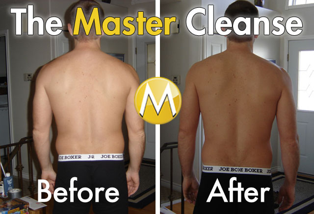 Master Cleanse Before and After Back