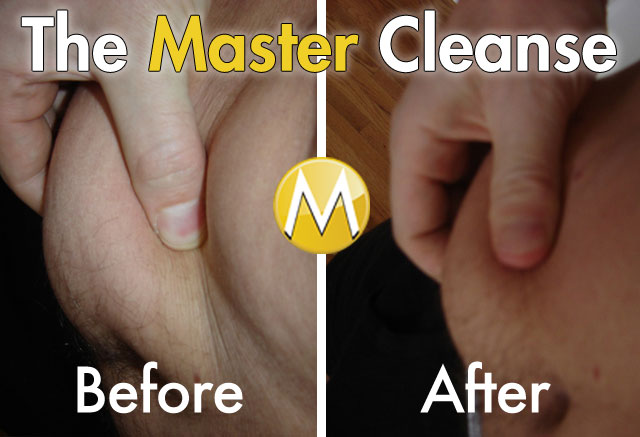 Master Cleanse Before and After Belly