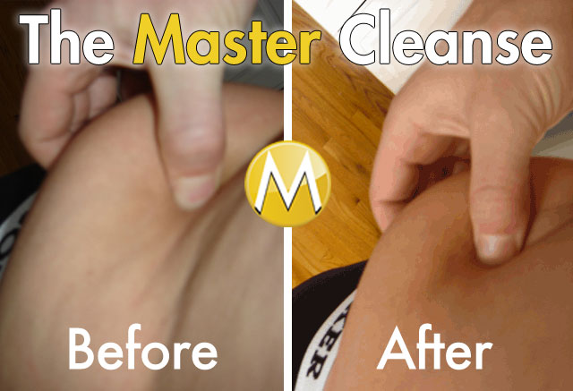 Master Cleanse Before and After Love Handle