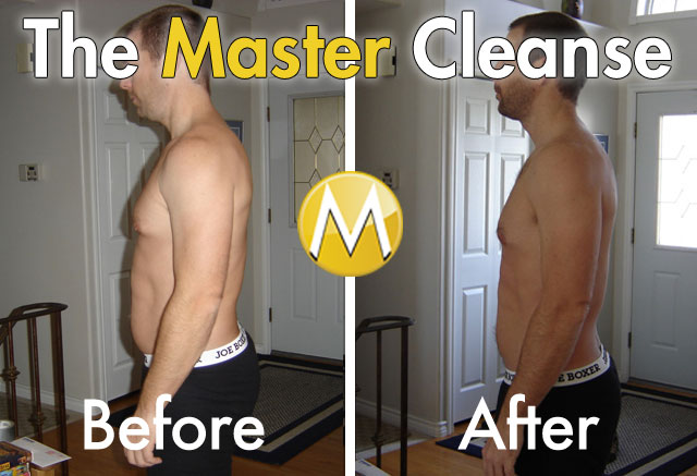Master Cleanse Before and After Side