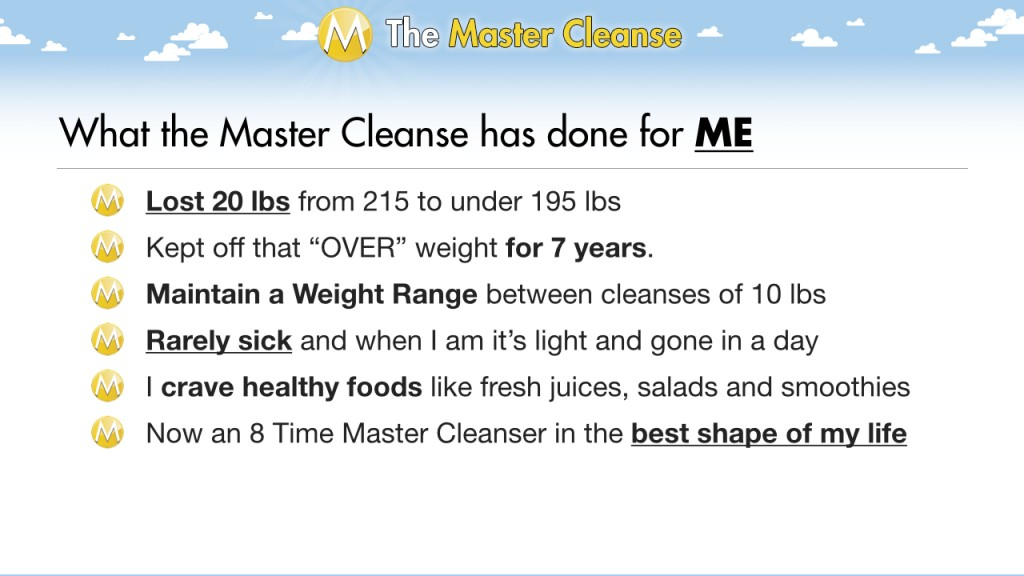 Zero To Master Cleanser C The Master Cleanse