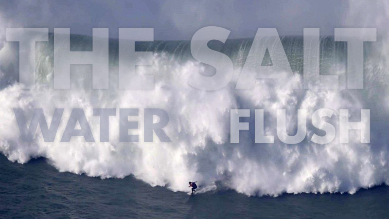 Salt Water Flush - Ocean Wave Surfing Graphic